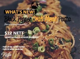 Black Pepper Crab Meat Pasta (Thumbnail)